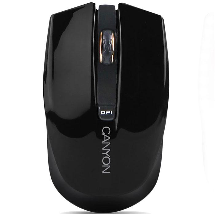 Canyon CNS-CMSW5, Black мышьCNS-CMSW5BБеспроводная мышь с ярким дизайном Canyon CNS-CMSW5Y оснащена переключателем разрешения оптического сенсора от 800 до 1280 dpi. Подключается к компьютеру при помощи миниатюрного радиоприемника. Мышь приятно лежит в руке и очень удобна в использовании.