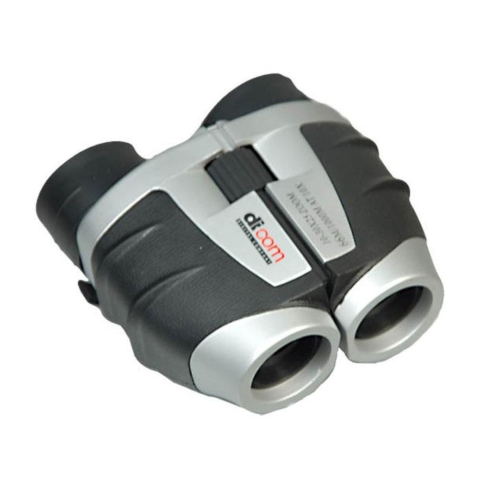 Dicom GZ103025 10-30x25 бинокльGZ103025Dicom B840 Bear 8x40 - недорогой и удобный бинокль, который станет верным спутником для любителей пеших прогулок и наблюдений за животными. Диаметр объектива в этом бинокле составляет 25 мм. Это делает прибор наиболее компактным и легким. Центральная фокусировка, которая присутствует в представленной модели бинокля, является максимально удобной для пользователя, за счет одновременной фокусировки сразу обеих труб бинокля. Крепление на штативе даст возможность использовать Dicom GZ103025 10-30x25 как постоянный источник наблюдения и даст максимальное удобство наблюдателю.Угловое поле зрения: 3,8°Материал корпуса: пластик