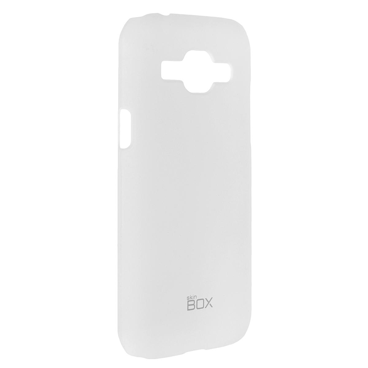 Skinbox Shield 4People чехол для Samsung J1 3G DS, WhiteT-S-SJ13G-002Чехол Skinbox Shield 4People для Samsung Galaxy J1 предназначен для защиты корпуса смартфона от механических повреждений и царапин в процессе эксплуатации. Имеется свободный доступ ко всем разъемам и кнопкам устройства. В комплект также входит защитная пленка на экран телефона.