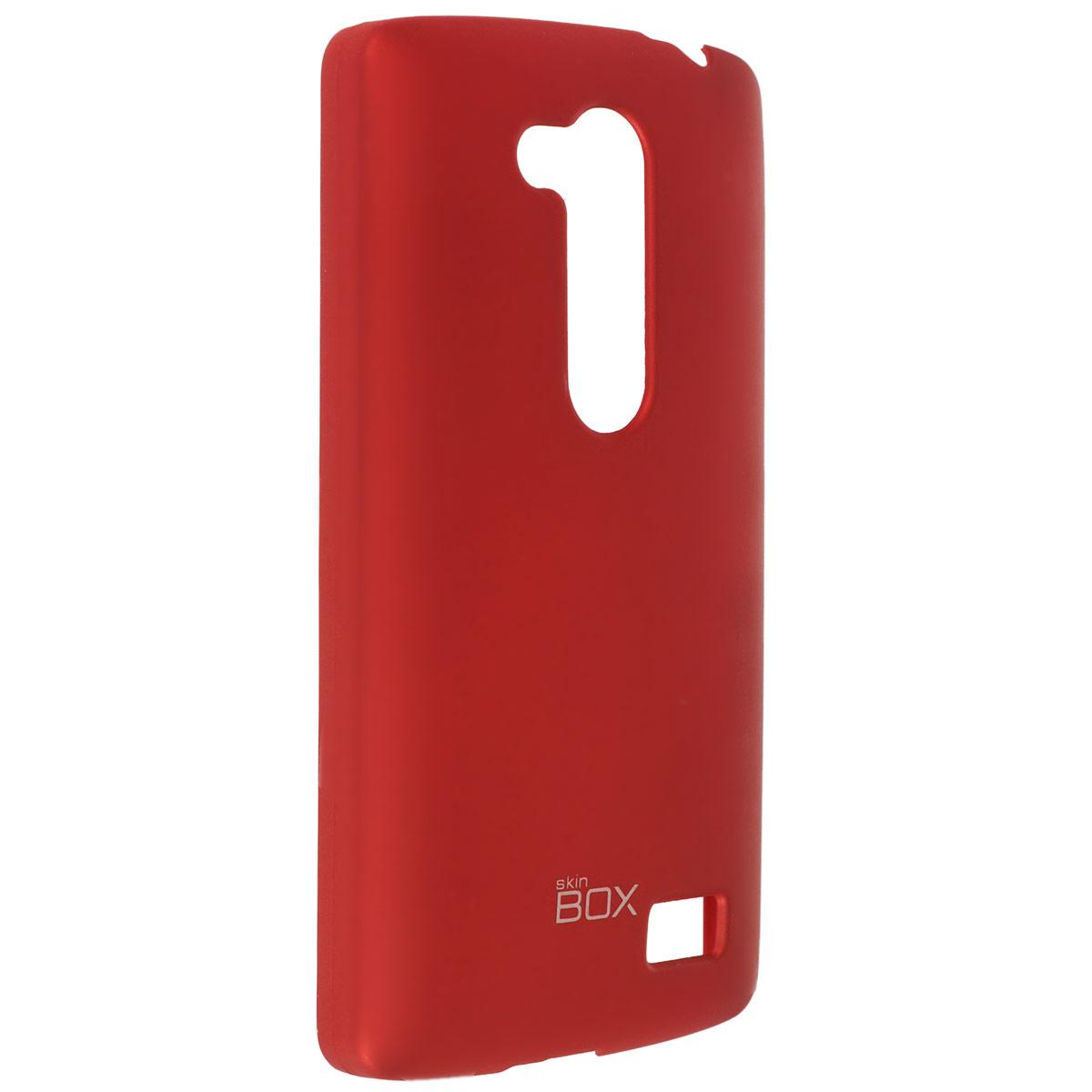 Skinbox Shield 4People чехол для LG Fino, RedT-S-LF-002Чехол Skinbox Shield 4People для LG Fino предназначен для защиты корпуса смартфона от механических повреждений и царапин в процессе эксплуатации. Имеется свободный доступ ко всем разъемам и кнопкам устройства. В комплект также входит защитная пленка на экран телефона.