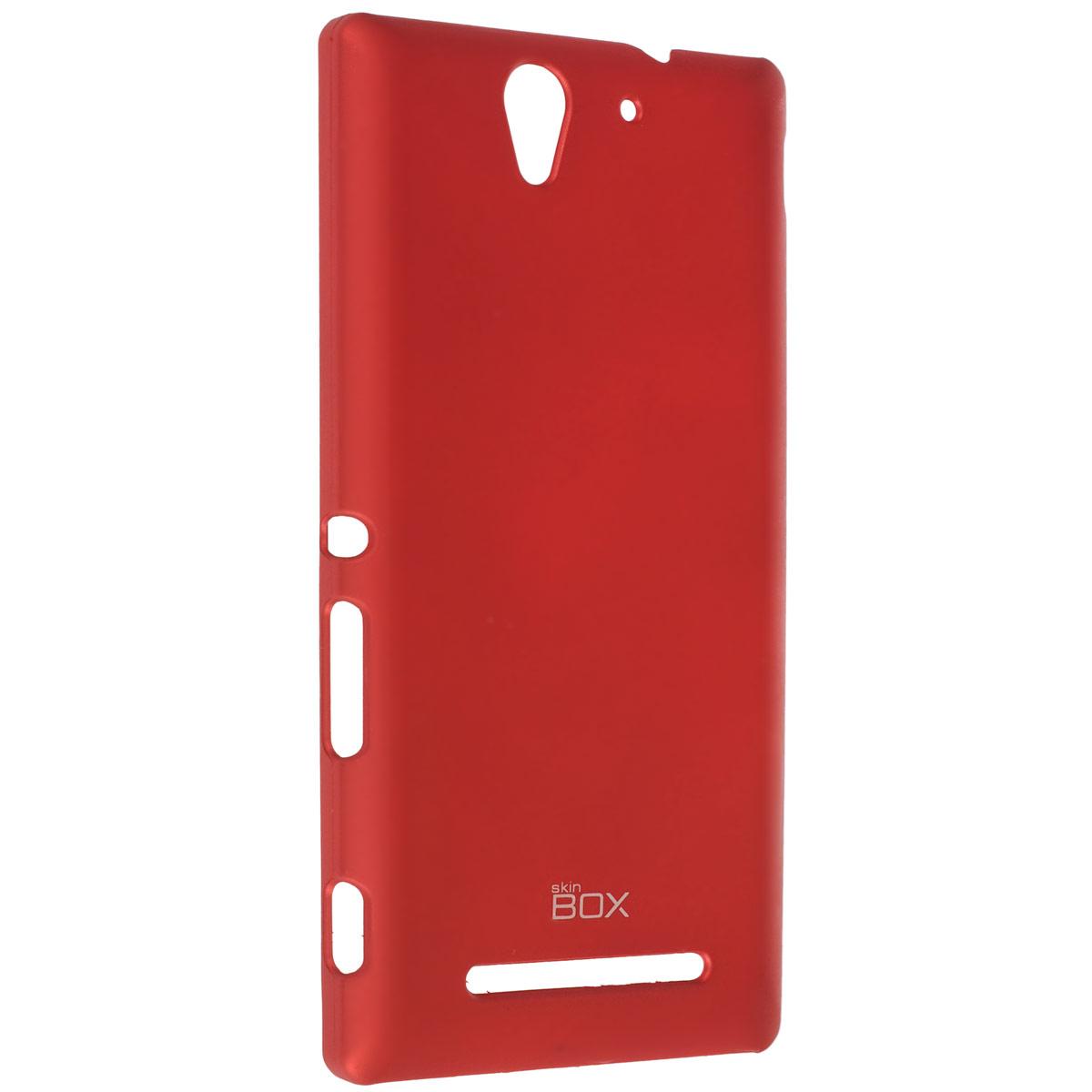 Skinbox Shield 4People чехол для Sony Xperia C3, RedT-S-SXС3-002Чехол Skinbox Shield 4People для Sony Xperia C3 предназначен для защиты корпуса смартфона от механических повреждений и царапин в процессе эксплуатации. Имеется свободный доступ ко всем разъемам и кнопкам устройства. В комплект также входит защитная пленка на экран телефона.