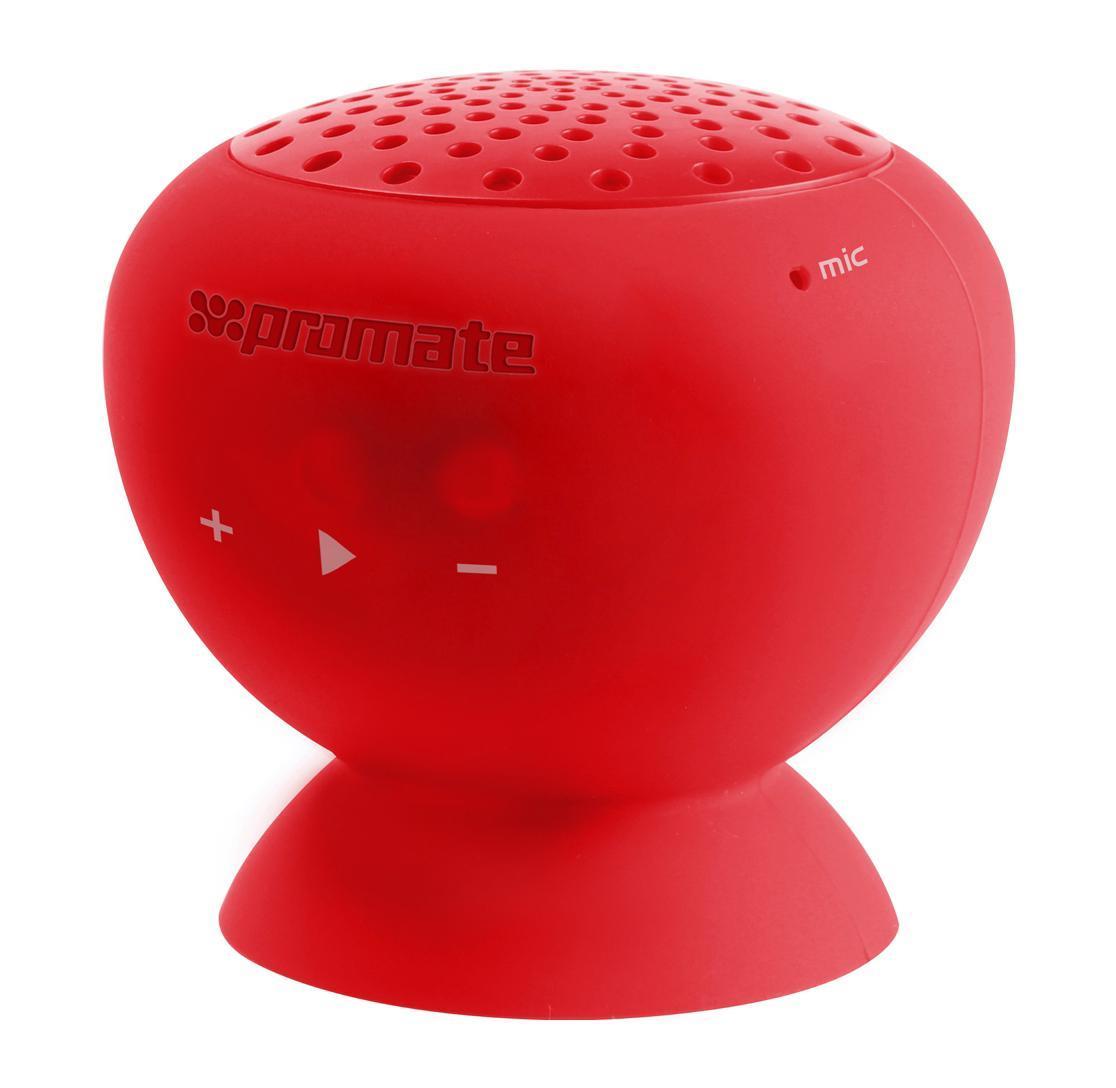 Promate Globo, Red Bluetooth-динамик00007413Хотите, чтобы все вокруг были с Вами на одной волне? Слушали одну и ту же музыку? Портативный динамик Globo наполнит мир вокруг Вас любимой музыкой.С его помощью все вокруг будут слушать хорошие песни. Такой беспроводной динамик для мобильных устройств подключается по технологии Bluetooth.Globo – не только удобный аксессуар для прослушивания музыки, но и подставка для Вашего телефона. Кстати, с таким девайсом Вы сможете не только слышать, но и быть услышанными, ведь он оборудован прекрасным микрофоном с шумоподавлеием.Этот беспроводной динамик, несомненно, сделает мир вокруг Вас намного ярче, веселее и музыкальнее.