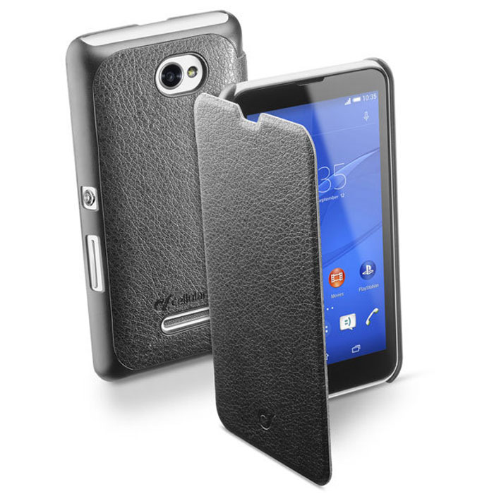 Cellular Line Book Essential чехол для Sony Xperia E4, Black (23830)