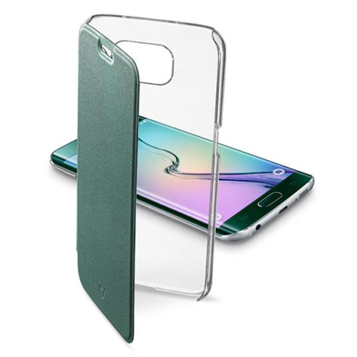 Cellular Line Clear Book чехол для Samsung Galaxy S6 Edge, Green (24074) cellular line book agenda чехол для iphone 6 white 21832