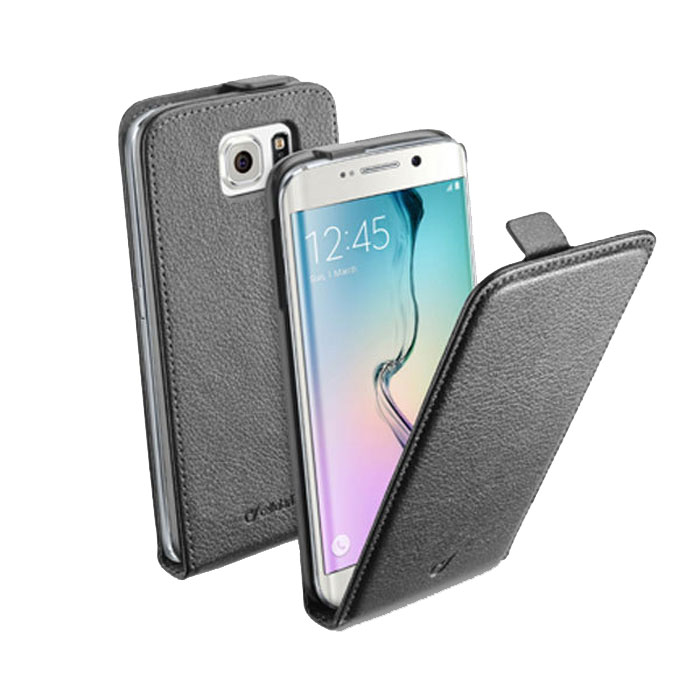 Cellular Line Flap Essential чехол для Samsung Galaxy S6 Edge, Black (24067) чехол раскладушка cellular line flap essential для samsung galaxy s7 черный