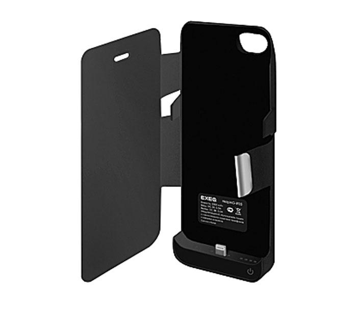 EXEQ HelpinG-iF05 чехол-аккумулятор для iPhone 5/5s/5c, Black (2300 мАч, флип-кейс)HelpinG-iF05 BLСтильный дизайн Exeq HelpinG-iF05 не только прекрасно подойдет к дизайну вашего любимого смартфона, но надежно защитит его от загрязнений, царапин и ударов даже во время самой активной эксплуатации. Встроенный аккумулятор чехла обеспечит своевременную подзарядку смартфона и позволит продлить часы его работы как минимум в два раза – еще больше разговоров, интернет-серфинга, любимой музыки на Вашем iPhone! Для удобного просмотра видео, чтения электронных книг чехол Exeq HelpinG-iF05 оборудован встроенной подставкой, которая позволит надежно закрепить телефон в горизонтальном положении. Заряжается чехол-аккумулятор Exeq HelpinG-iF05 от зарядного устройства телефона, причем заряжать оба устройства можно не извлекая телефон из чехла. Так для зарядки телефона просто подсоедините зарядное устройства к чехлу и нажмите кнопку питания на чехле, а для зарядки чехла просто подсоедините зарядное устройство к нему. Аналогично происходит и подключение телефона к компьютеру – чехол-аккумулятор Exeq HelpinG обеспечивает идеальную передачу данных между смартфоном и другими электронными устройствами.