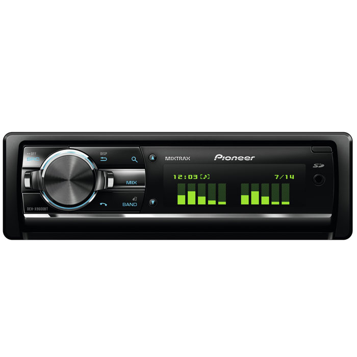 Pioneer DEH-X9600BT автомагнитола CDDEH-X9600BTPioneer DEH-X9600BT легко подключить к мобильным устройствам iPod, iPhone или Android, также он может воспроизводить музыку с USB-накопителя. Используйте дополнительный вход Aux-вход и два USB-порта на тыловой панели для подключения своих устройств к этой аудиосистеме. Поддержка Bluetooth позволяет использовать беспроводную гарнитуру для совершения звонков или прослушивания аудио с совместимых устройств.