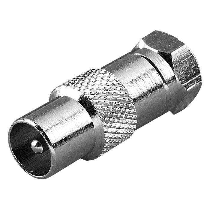 Vivanco адаптер F (штырь) - антенный штырь44013Адаптер Vivanco предназначен для адаптации связи между коаксиальным разъемом и F-гнездом.
