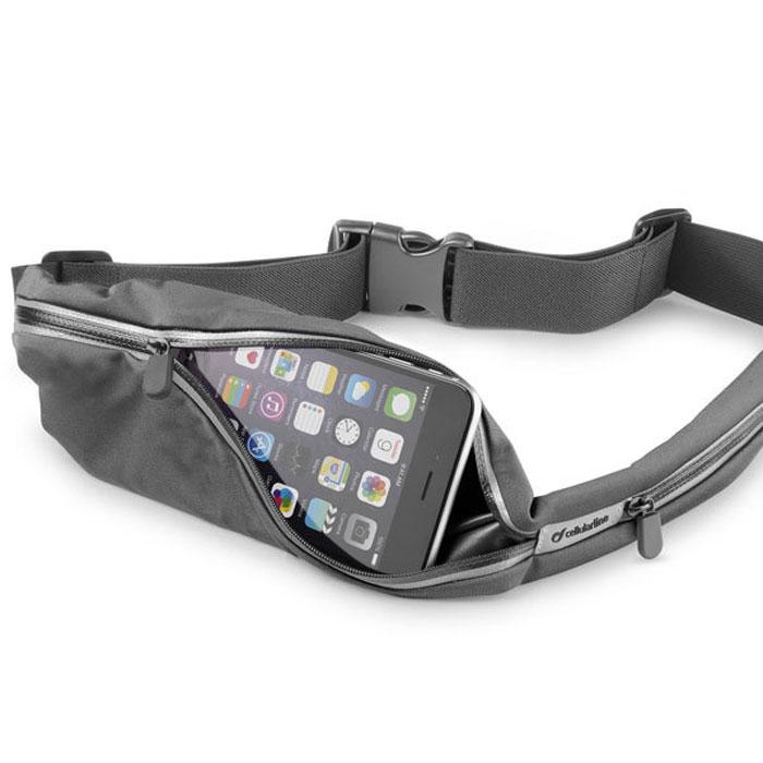 Cellular Line Waistband Running спортивный чехол на пояс для смартфонов, Black (23281) cellular line spvanityiphone5