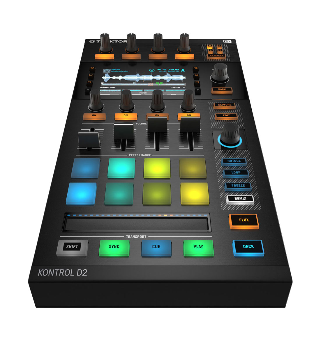 Native Instruments Traktor Kontrol D2 DJ-контроллер instruments traktor dj cable native instruments