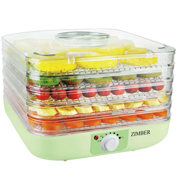 Zimber ZM-11024 дегидраторZM-11024Zimber ZM 11024- это сушилка для овощей, которая позволит вам быстро и качественно обработать овощи и фрукты для хранения. Пять уровней обеспечат удобное размещение продуктов внутри устройства и легкий доступ к ним, а прозрачные стенки корпуса позволят четко видеть, какие овощи внутри. Подбор оптимальной температуры в диапазоне от 40 до 70 градусов, позволит засушить овощи до необходимого состояния. Неоспоримым плюсом является также необычайная простота управления.