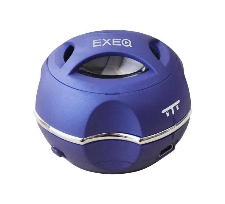 EXEQ SPK-1101, Blue портативная АСSPK-1101 СиняяКолонка EXEQ SPK-1101 сочетает в себе миниатюрный размер и качество звука. Данная модель имеет встроенной аккумуляторную батарею, которая гарантирует беспрерывную работу до 6 часов. Она выдает громкий и четкий звук с хорошими басами. Колонка EXEQ SPK-1101 удачно впишется в любой интерьер и не займет много места рядом с устройством, к которому она будет подключена.