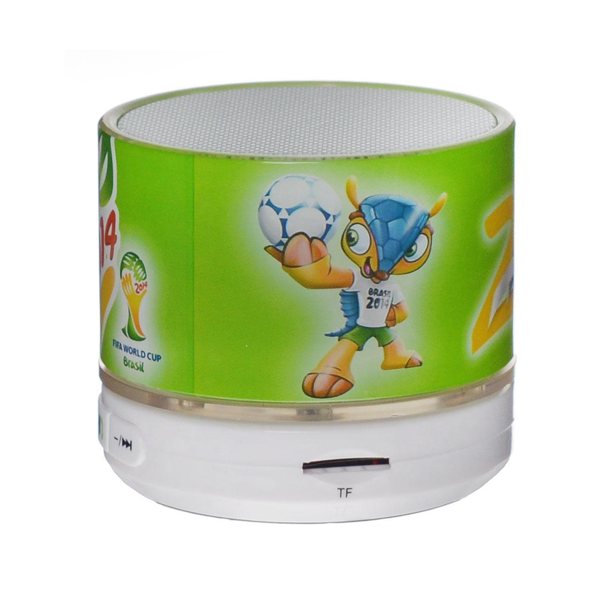 Liberty Project Brazil 2014 беспроводная колонкаR0002656Liberty Project Brazil 2014 - это компактная портативная акустическая система, совместимая с большинством аудио устройств. Небольшие размеры и встроенный аккумулятор дают возможность использовать колонки в мобильном режиме, в любом месте, где нет электричества. Скромный с виду динамик обеспечивает вполне серьезную громкость и с легкостью озвучивают небольшое помещение или место пикника, отдыха. Для подключения можно использовать стандартный аудиоразъем 3.5 мм. Liberty Project Brazil 2014 - прекрасное решение для всех, кто хочет слушать любимую музыку в компании и не зависеть от розетки. Кроме того, у данной модели акустики есть возможность воспроизводить аудиофайлы непосредственно с карты памяти или обычной USB-флешки.