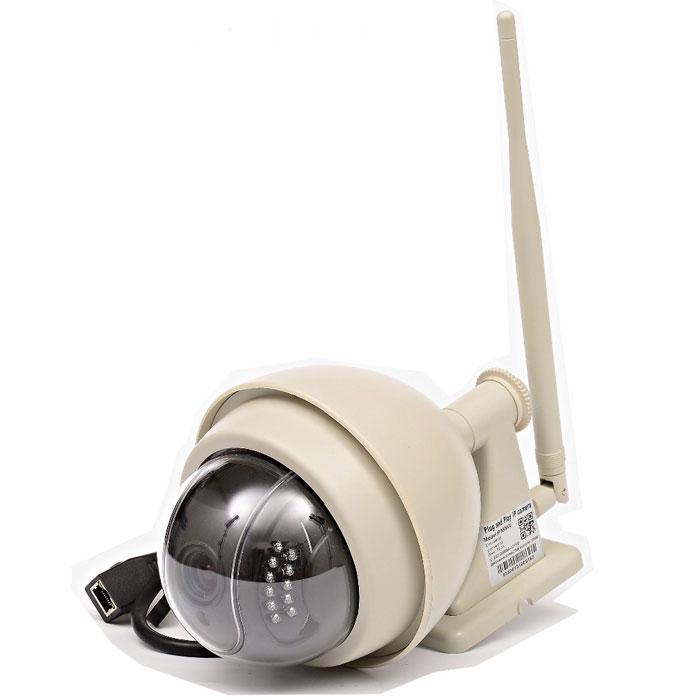 Zodiak 935 внешняя купольная IP-камераP2P IP-камера 935Zodiak 935 - удобное решение для онлайн видеонаблюдения через интернет за загородным домом, дачей или офисом. Облачный сервис обеспечивает бесплатный удаленный онлайн просмотр и доступ к архиву (SD карте) с мобильных устройств.Благодаря функции P2P камера не требует статического адреса и специальной настройки для удаленного просмотра, вам нужно лишь подключить ее к сети Интернет и установить на компьютер или мобильное устройство специальное приложение Zodiakvideo (Android, iOS).Поворотное устройство камеры позволяет вращать ее на 355 градусов по горизонтали и на 90 градусов по вертикали для улучшения обзора. Благодаря влагозащитному корпусу камера не пострадает от попадания влаги.Устройство предназначено для использования как в помещениях, так и на улице, но при температуре > -25 градусов.Оптический Zoom (3-х кратный), фокусное расстояние объектива 4-9 ммВстроенная подсветка (22 светодиода)Поворотное устройство (на 355 градусов по горизонтали и на 90 градусов по вертикали)Ночная съемкаОбъектив 3.6 ммСкорость: 802.11b: 11 Мб в сек(max), 802.11g: 54 Мб в сек (max)Максимальная потребляемая мощность: 6 Вт