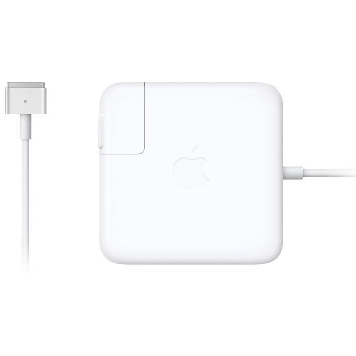 Apple MagSafe 2 адаптер питания 60 Вт для MacBook Pro 13 Retina (MDZ/A)MDZ/AАдаптер питания Apple MagSafe 2 мощностью 60 Вт оснащён магнитным разъёмом. Если кто-то случайно наступит на кабель, он просто отсоединится, а ваш MacBook Pro останется на месте. Это также помогает избежать преждевременного износа кабелей. Кроме того, магнитный разъём обеспечивает быстрое и надёжное подключение к системе. При правильном подключении на разъёме загорается светодиод. Жёлтый цвет означает, что ноутбук заряжается, а зелёный показывает, что он полностью заряжен. Кабель питания, прилагающийся к адаптеру, даёт максимальное пространство для манёвра, а штепсельная вилка для розетки переменного тока (также входит в комплект) позволяет путешествовать налегке. Apple MagSafe 2 удобно брать с собой в дорогу: кабель можно намотать на устройство и таким образом сэкономить место.