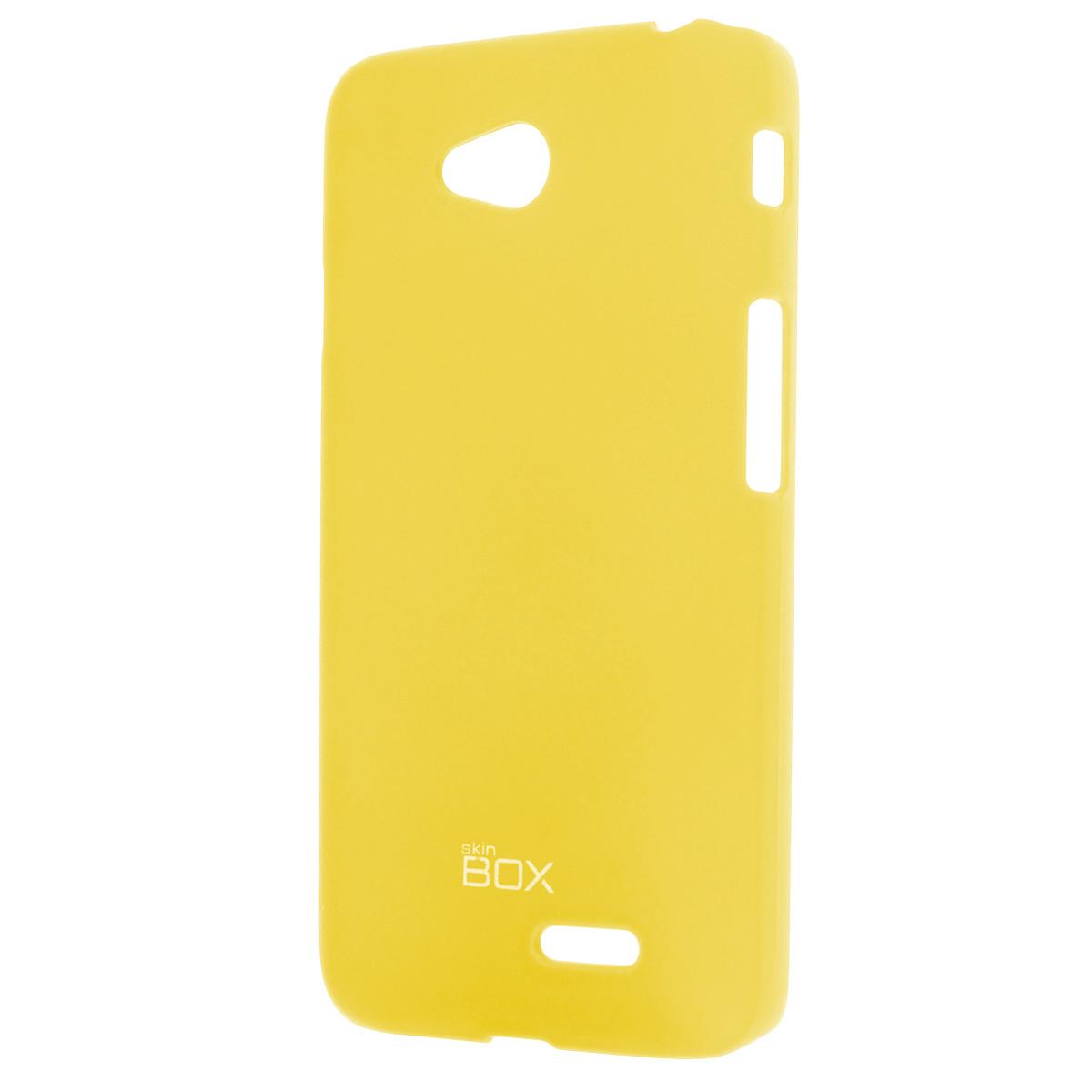 Skinbox Shield 4People чехол для LG L70 Dual, YellowT-S-LL70-002Чехол Skinbox Shield 4People для LG L70 предназначен для защиты корпуса смартфона от механических повреждений и царапин в процессе эксплуатации. Имеется свободный доступ ко всем разъемам и кнопкам устройства. В комплект также входит защитная пленка на экран телефона.