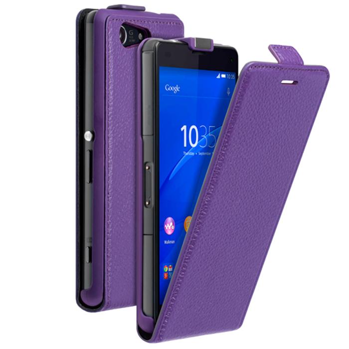 Deppa Flip Cover чехол для Sony Xperia Z3 Compact, Purple81047Чехол Flip Cover и защитная пленка для Sony Xperia Z3 Compact, магнит, Deppa материал: кожа
