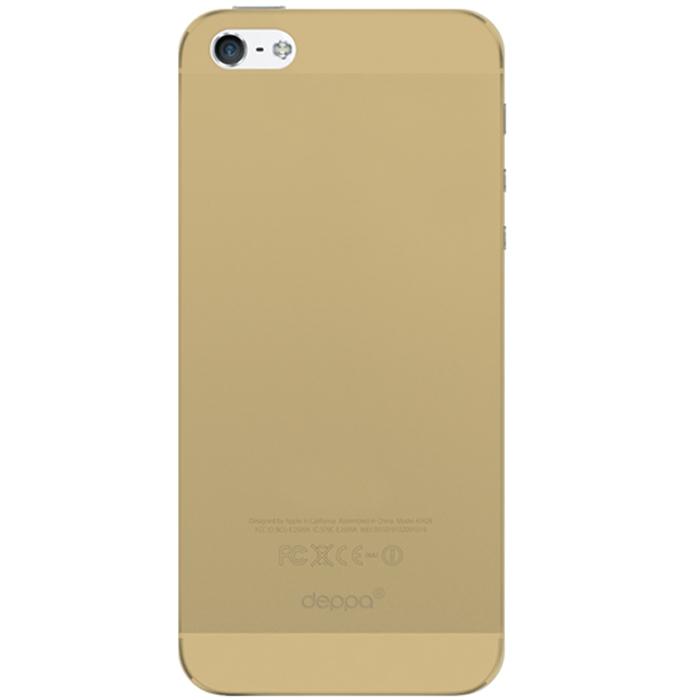 Deppa Sky Case чехол для Apple iPhone 5/5s, Gold86010Чехол Deppa Sky Case для iPhone 5/5s предназначен для защиты корпуса смартфона от механических повреждений и царапин в процессе эксплуатации. Имеется свободный доступ ко всем разъемам и кнопкам устройства. Чехол изготовлен из полипропилена и имеет толщину 0,3 мм.