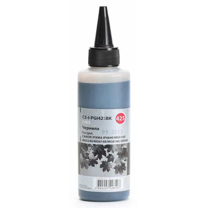Cactus CS-I-PGI425BK, Black чернила (100 мл) для Canon PIXMA iP4840/MG5140/5240/6140/8140CS-I-PGI425BKCactus CS-I-PGI425BK - чернила для перезаправляемых картриджей. Произведены при строгом соответствии стандартам ISO 9001 и ISO 14001.Объем: 100 мл