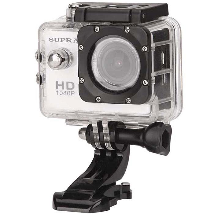Supra ACS-10 экшн камера8891Пережить заново самые яркие эмоции и впечатления, взглянуть на спуск по снежной трассе, полет на параплане или трюк на скейтборде от первого лица поможет Action Camera Supra ACS-10. Эта мини-камера фиксирует быстро меняющийся мир в формате Full HD, а затем демонстрирует захватывающие видео на собственном ЖК-экране или на большом телевизоре (есть видео выход AV/HDMI и порт USB). Многочисленные чехлы, крепления и прочие аксессуары открывают огромные просторы для вашего операторского творчества, а широчайший угол обзора (170 градусов) не оставит без внимания ни одной детали.Качество видеозаписи: 1080p (1980x1080) 30 кадров/с; 720p (1280 x 720) 60 кадров/сРазрешение фото: 12 Mпикс, 8 Мпикс, 5 МпиксЕмкость аккумулятора: 900 мАчПерезапись блоками каждые 2/5/10 минВодостойкий бокс, водостойкость до 30 мКласс исполнения водонепроницаемого корпуса: IP6810 вариантов креплений