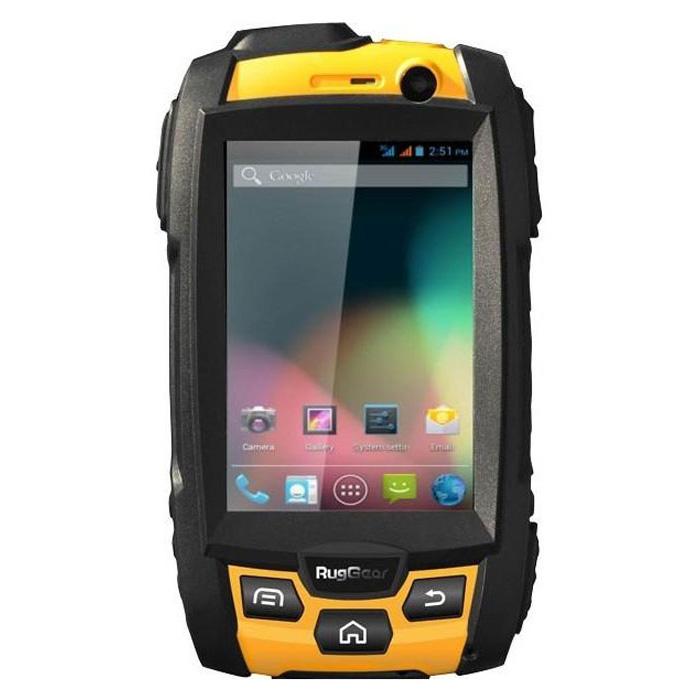 RugGear RG 500 Swift ProRG500Первоклассный сверхзащищенный смартфон RG500 Swift Pro создан для тех, кто не хочет делать выбор между компактностью, надежностью и мощной «начинкой». Мужественный противоударный корпус выполнен из прочного пластика и усилен прорезиненным вставками. При этом смартфон легко умещается в ладони и весит всего 206 граммов. RG500 защищен по международным стандартам IP-68 от влаги и микрочастиц, гарантирующие безопасное погружение смартфона на глубину более 1 метра и 100% защиты от вибрации, грязи, пыли и микрочастиц.RG500 Swift Pro расширяет границы использования защищенных мобильных устройств. Благодаря ОС Android 4.2 в смартфон можно устанавливать многообразные приложения, а чипсет с двухъядерным процессором 1,2 ГГц обеспечивает высокую производительность и позволяет насладиться просмотром качественного Full HD-видео, а также играть в самые современные ЗD-игры. Мощный аккумулятор в 2060 мАч гарантирует до 8 часов в режиме разговора и до 260 часов в режиме ожидания (в сети 3G). Смартфон оборудован NFC - функцией коммуникаций ближнего поля (беспроводная связь на коротких расстояниях). NFC технология может использоваться для различных целей: вы можете, например, превратить свой смартфон в виртуальную банковскую карту, использовать его в качестве пропуска, например, на предприятие. Также вы можете быстро обмениваться файлами и ссылками, и даже, с помощью специальных приложений, считывать и записывать информацию в программируемые NFC метки или NFC смарт-карты.Также в арсенале смартфона RG500 - обязательный набор функций и свойств, без которых пользователи не мыслят мобильных устройств RugGear: слоты для двух SIM-карт, 5-мегапиксельная камера, GPS-навигация, Wi-Fi, Bluetooth, возможность использовать рацию неограниченной дальности и многое другое.Поддержка карт памяти объемом до 32 ГБТелефон сертифицирован Ростест и имеет русифицированный интерфейс, меню и Руководство пользователя.