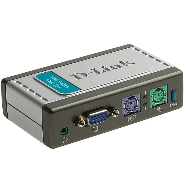 D-Link KVM-121 переключательKVM-121Двухпортовый переключатель KVM (клавиатура, монитор и мышь) является экономически эффективным решением для дома и офиса. KVM-121 позволяет пользователям управлять двумя компьютерами при помощи одной клавиатуры, мыши и монитора. Переключатель оборудован аудиоразъемом, обеспечивая возможность передачи звука. Экономически эффективное решение для пользователей ПК:Подключив KVM-121, вы получаете возможность управления двумя компьютерами при помощи одной клавиатуры, монитора и мыши, экономя средства на приобретение дополнительного оборудования и сохраняя свободное рабочее пространство. В комплекте с устройством поставляется два комплекта KVM-кабелей. Многофункциональность:KVM-121 производит эмуляцию каждого подключенного к нему компьютера и использует для интеллектуального управления KVM-портами встроенный микропроцессор, что позволяет одновременно управлять подключенными компьютерами. Автосканирование, звуковая сигнализация и поддержка горячих клавиш клавиатуры делает KVM-121 простым в использовании и управлении. Для удобства работы, на передней панели устройства расположена кнопка переключения между компьютерами. Поддержка мониторов с высоким разрешением:KVM-121 может работать с мониторами VGA, SVGA и MultiSync с разрешением до 2048 x 1536 и частотой вертикальной развертки 72 ГЦ.Совместное использование аудиоустройств:KVM-121 обеспечивает поддержку передачи звука и оборудован аудиоразъемом для подключения аудиоустройств, позволяющих прослушивать звуковой сигнал с подключенных компьютеров. Два индикатора портов, подключенных к ПКПотребляемая мощность: 5 В/70 мАПоддерживает ОС: Windows 98, ME, NT, 2000, 2003, XP LinuxКлавиатура: 6-контактный разъем Mini DINМышь: 6-контактный разъем Mini DINМонитор: 15-контактный разъем HDПодключение KVM-кабелей: 2 х 15-контактных разъема HDDB, 2 х аудио 3.5 ммКабели KVM: 2 хнабора кабелей длиной 1.8 м для подключения к компьютерам, каждый из которых имеет следующие разъемы:15-контактный разъем HDDB6-конт