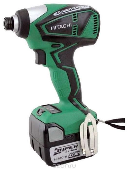 Шуруповерт аккумуляторный ударный Hitachi WH14DBEL  аккумуляторный шуруповерт hitachi ds18dsfl