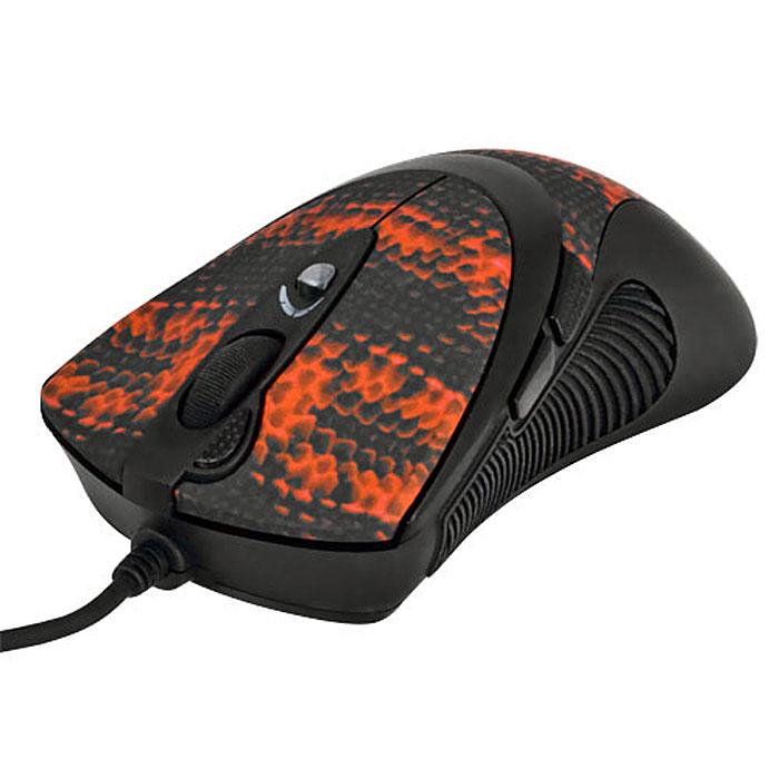 A4Tech XL-740K, Black Red игровая мышь94399Проводная лазерная мышь A4Tech XL-740K имеет новую эргономичную форму, обеспечивающую максимальный комфорт в игре. По бокам сделаны прорезиненные вставки, что исключает выскальзывание мыши в самой напряженной игровой ситуации. Мышь исключительно плавно движется при любых поворотах, реагируя на малейшие движения быстро и четко. Сенсор модели расположен непосредственно под центром ладони, что обеспечивает максимальную точность позиционирования курсора. В корпусе мыши находится специальный картридж, который вмещает до 7 грузиков общим весом 19,5 грамм. Их можно использовать для того, чтобы наилучшим образом отрегулировать вес мыши и достичь оптимальной инертности и сбалансированности, в соответствии с индивидуальными предпочтениями пользователя.Основные кнопки лазерной мыши «интегрированы» в корпус и составляют с ним единое целое. Две удобных кнопки под большим пальцем программируются, по умолчанию они выполняют команду «Вперед»/ «Назад». Рядом с колесом прокрутки располагается уникальная кнопка «Тройной клик», позволяющая сделать сразу три выстрела одним нажатием. Кнопка смены разрешения позволяет менять скорость курсора мыши без установки дополнительных драйверов. При смене режима колесо прокрутки подсвечивается разными цветами. Максимальное разрешение - 3600 dpi. При возвращении к повседневной работе за компьютером можно понизить его до 600 dpi. Независимо от игровой активности и частоты использования мыши, кнопки модели прослужат вам очень долго. Производитель, японская компания OMRON, гарантирует до 8 000 000 бесперебойных «кликов». Новые игровые мыши A4Tech имеют встроенную память 16 KБ. Это значит, что теперь у вас есть уникальная возможность запрограммировать мышь выполнять любые игровые действия одним кликом! Создавайте свои скрипты и интегрируйте их во встроенную память вашей мыши. Играйте на любых компьютерах, сохранив ваши уникальные установки в памяти мыши. Для этого просто воспользуйтесь удобным и наглядным редак