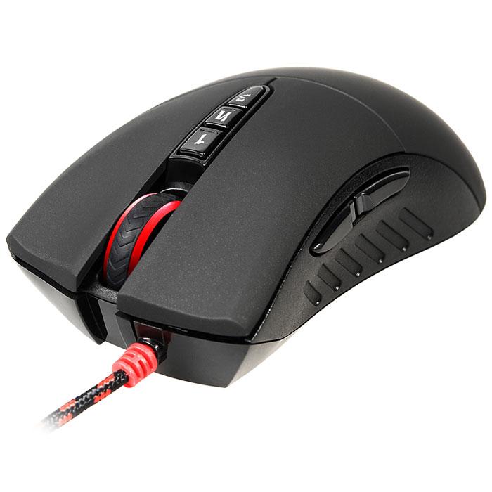 A4Tech Bloody V3, Black игровая мышь694746A4Tech Bloody V3 — игровая мышь с двумя оптическими датчиками Holeless. Манипулятор сочетает в себе инновационные технологии и стильный дизайн. Эргономика тоже на высоте. Главной особенностью являются - 3 уникальными режимами для стрельбы. В Bloody V3 встроено 160 Кб памяти, с помощью нее можно задать необходимые функции для всех клавиш. Плюс ко всему с помощью дополнительной функции можно настроить траекторию и скорость выстрелов, а так же снизить отдачу от стрельбы.