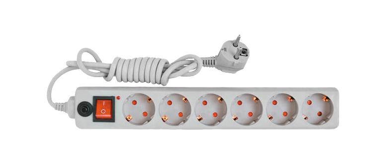 Сетевой фильтр с заземлением UNIVersal, ПВС (3*0,75), цвет: серый, 1,8 м83292Используется в жилых и офисных помещениях для защиты компьютеров и другой электронной аппаратуры от высокочастотных помех и импульсных перенапряжений в электрических сетях переменного тока до 250В вызванных: грозовыми разрядами, работой электротранспорта, авариями на подстанциях, работой промышленного оборудования. Характеристики: Материал корпуса: высококачественный полипропилен импортного производства. Материал деталей контактных групп: латунь. Номинальное напряжение: 220 В. Количество розеток: 6. Длина кабеля электропитания: 1,8 м. Номинальный ток: 10 А. Условие эксплуатации: от -15 до +50°С. Размер в упаковке: 40 см х 10 см х 5,5 см. Характеристики: Материал корпуса: высококачественный полипропилен импортного производства. Материал деталей контактных групп: латунь. Номинальное напряжение: 220 В. Количество розеток: 6. Длина кабеля электропитания: 1,8 м. Номинальный ток: 10 А. Условие эксплуатации: от -15 до +50°С. Размер в упаковке: 40 см х 10 см х 5,5 см.