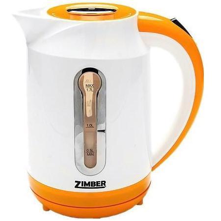 Zimber ZM-10825 электрический чайникZM-10825Электрический чайник Zimber ZM-10825 является прекрасным решением для тех, кто любит устраивать себе перерывы в работе на чашечку чая или кофе. Он прост в управлении и долговечен в использовании. Чайник автоматически выключается при закипании.