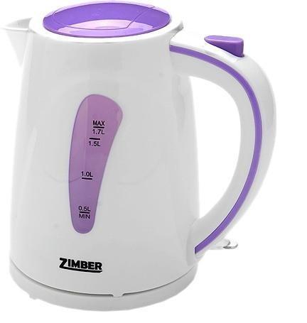 Zimber ZM-10839 электрический чайникZM-10839Электрический чайник Zimber ZM-10839 является прекрасным решением для тех, кто любит устраивать себе перерывы в работе на чашечку чая или кофе. Он прост в управлении и долговечен в использовании. Чайник автоматически выключается при закипании.