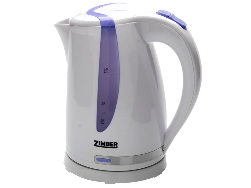 Zimber ZM-10830 электрический чайникZM-10830Электрический чайник Zimber ZM-10830 является прекрасным решением для тех, кто любит устраивать себе перерывы в работе на чашечку чая или кофе. Он прост в управлении и долговечен в использовании. Чайник автоматически выключается при закипании.
