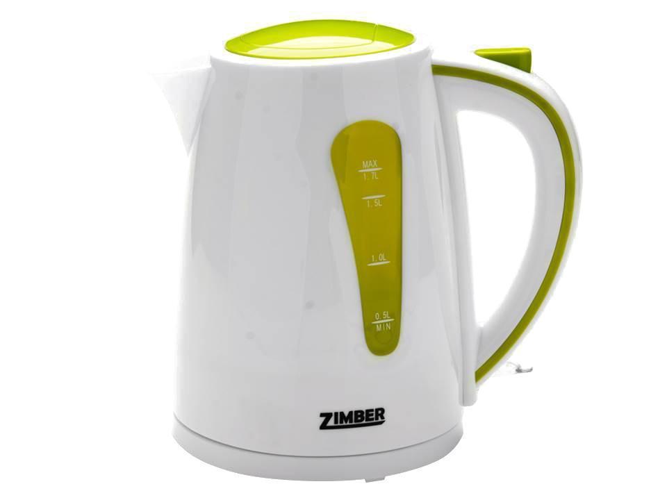 Zimber ZM-10842 электрический чайникZM-10842Электрический чайник Zimber ZM-10842 является прекрасным решением для тех, кто любит устраивать себе перерывы в работе на чашечку чая или кофе. Он прост в управлении и долговечен в использовании. Чайник автоматически выключается при закипании.