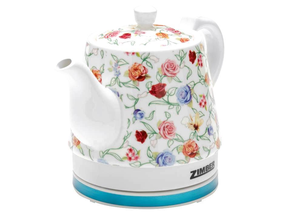 Zimber ZM-10990 электрический чайникZM-10990Электрический чайник Zimber ZM-10990 является прекрасным решением для тех, кто любит устраивать себе перерывы в работе на чашечку чая или кофе. Он прост в управлении и долговечен в использовании. Чайник автоматически выключается при закипании.