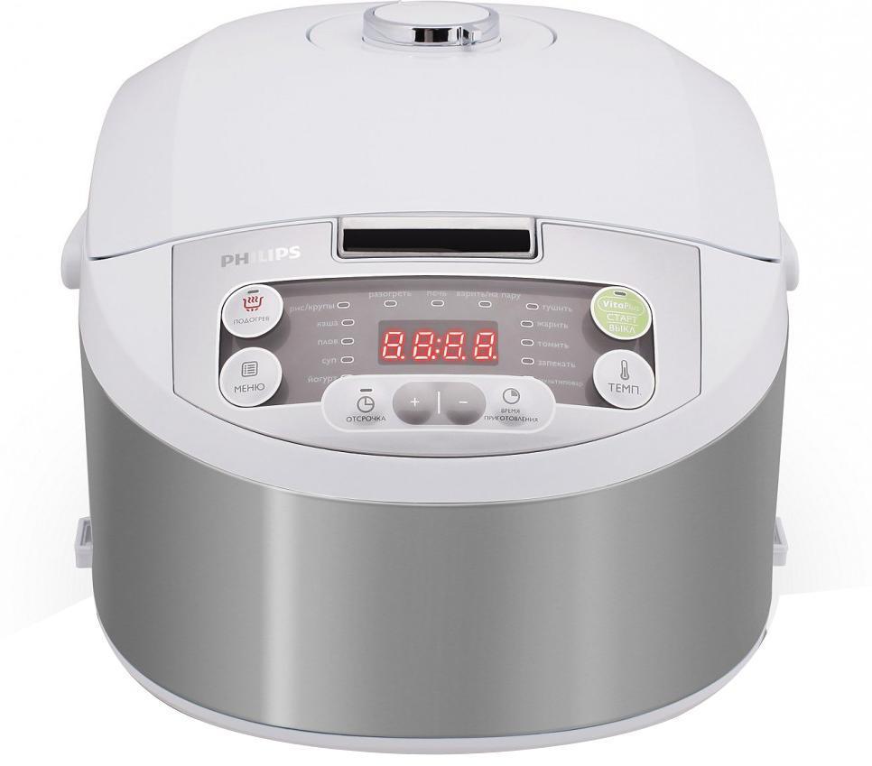 Philips HD3136/03 мультиваркаHD3136/03Мультиварка Philips HD3136/03 Viva Collection с технологией VitaPlus и двумя нагревательными элементами для быстрого и равномерного нагрева. Равномерное распределение тепла осуществляется благодаря функции 3D-нагрева. Легко программируемый таймер отсрочки старта до 24 часов позволит приготовить блюда к нужному времени. Мультиварка оснащена 15 программами и режимом Multicook для приготовления вкусных и здоровых блюд. В комплект входит кулинарная книга с более чем 30 оригинальными рецептами вкусных блюд и советами профессионалов. Внутреннюю чашу можно мыть в посудомоечной машине.