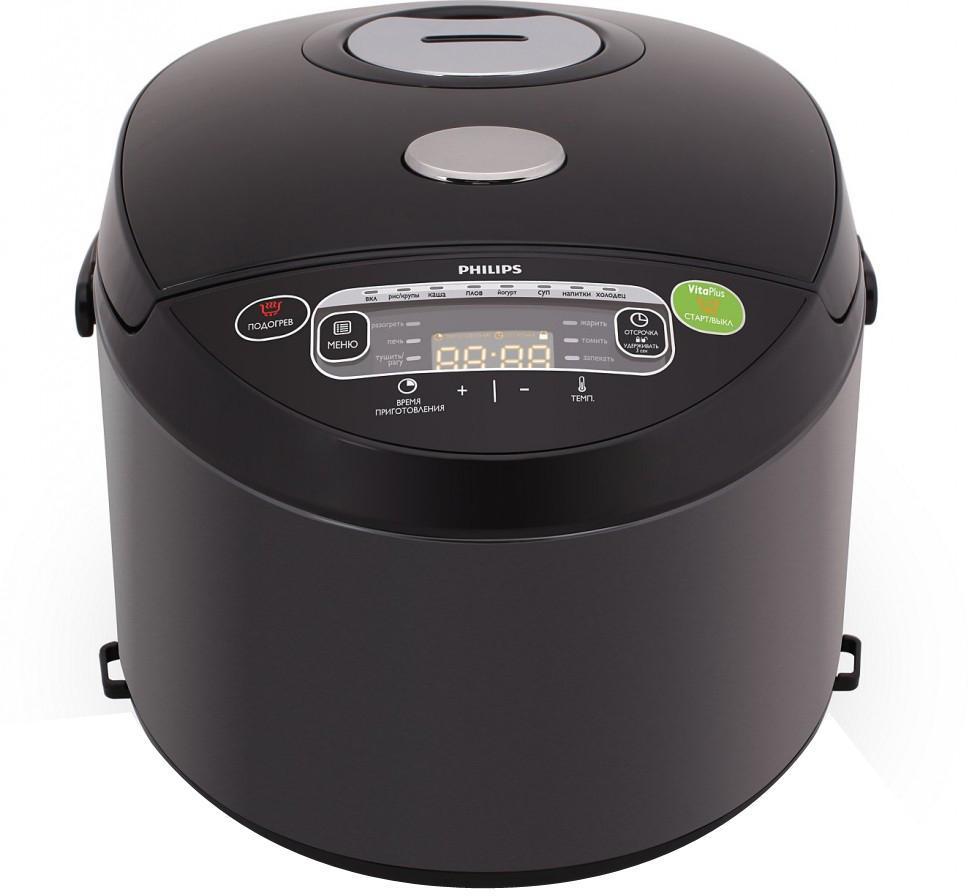 Philips HD3165/03 мультиваркаHD3165/03Технология VitaPlus с двумя нагревательными элементами для быстрого и равномерного нагреваНовая технология нагрева VitaPlus: двойной нагревательный элемент для быстрого нагрева и равномерного распределения теплаТолстостенная емкость 2 мм с нанокерамическим покрытием ProKeramЛегкопрограммируемый таймер отсрочки старта до 24 часовЛегкопрограммируемый таймер отсрочки старта до 24 часов позволит приготовить блюда к нужному времениВнутреннюю чашу можно мыть в посудомоечной машинеВ комплект входит книга рецептов с оригинальными идеямиВ комплект входит кулинарная книга с более чем 30 оригинальными рецептами вкусных блюд и советами профессионалов18 программ для приготовления вкусных и здоровых блюд18 программ и режим Multicook для приготовления вкусных и здоровых блюдРавномерное распределение тепла благодаря функции 3D-нагрева