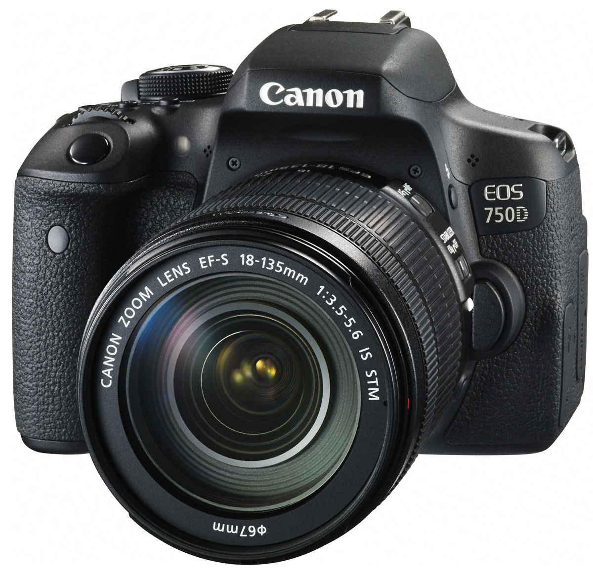 Canon EOS 750D Kit 18-135 IS STM, Black цифровая зеркальная фотокамера0592C009Достигайте новых уровней мастерства в фотосъемке с зеркальной фотокамерой Canon EOS 750D.Простая съемка мельчайших деталей в любой ситуацииСнимайте яркие и детализированные изображения в высоком разрешении с расширенным динамическим диапазоном, пониженным уровнем шума и превосходным контролем глубины резкости благодаря 24,2-мегапиксельному датчику APS-C.Удобный видоискательEOS 750D оснащена интеллектуальным видоискателем, который обеспечивает улучшенные возможности съемки. Глядя в видоискатель, легче видеть точку фокусировки и любые активные области автофокусировки. Кроме того, четко отображается информация о съемке.Различные режимы съемкиС легкостью снимайте великолепные фотографии благодаря последним технологиям цифровых зеркальных камер с базовыми и творческими режимами, которые позволят вам самостоятельно выбирать уровень контроля над параметрами съемки.Поворотный экран для творческого выстраивания композицииИсследуйте интересные ракурсы и наслаждайтесь удобными и интуитивными элементами управления на трехдюймовом (7,7 см) сенсорном ЖК-экране с регулируемым углом наклонаБыстрый процессор для съемки в движенииМощный процессор DIGIC 6 обеспечивает съемку в полном разрешении на скорости 5 кадров/сек. — и вы никогда не упустите решающий момент. Делайте памятные снимки при слабом освещении без вспышки с помощью широкого диапазона чувствительности ISO 100–12800 (с возможностью увеличения до ISO 25600).Снимайте видео Full HD с высочайшей детализацией и кинематографическим качеством благодаря управлению глубиной резкости в цифровых зеркальных камерах. Записывайте видео в формате MP4 для удобной отправки на другие устройства.С поддержкой стандартов Wi-Fi и NFC вы можете быстро подключаться и отправлять фотографии и видео на совместимые смартфоны, планшеты или принтеры, а также публиковать их в социальных сетях.