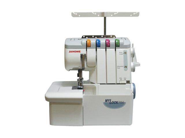 Janome ML784D оверлок4933621701994Функциональный оверлок, прост в управлении, имеет 7 видов швов: 4-х ниточный, 3-х ниточный узкий, 3-х ниточный широкий, 2-х ниточный широкий, 2-х ниточный узкий, роликовый шов, плоский шов (имитация). Выполненные на этой машине изделия по качеству не уступают выпущенным на промышленном оборудовании.Благодаря продуманной конструкции, нет необходимости менять игольную пластину при переходе на роликовый шов.На Janome My Lock 784 D Вы сможете работать с легкими и средними, тяжелыми и многослойными, эластичными и деликатными материалами, а благодаря встроенной регулировке усилия прижима лапки и дифференциальной подаче ткани добиться наилучшего качества обработки проще простого.Легкая заправка нитиЛегкая заправка нити: нитенаправители маркированы различными цветами. С уникальной системой облегченной заправки даже левый петлитель можно заправить нитью быстро и легко.Рукавная платформаУдобная узкая рукавная платформа для обработки трубчатых изделий.Легкая замены лапкиЗамена лапки происходит легким защелкиванием! Просто снимите одну и поставьте другую.