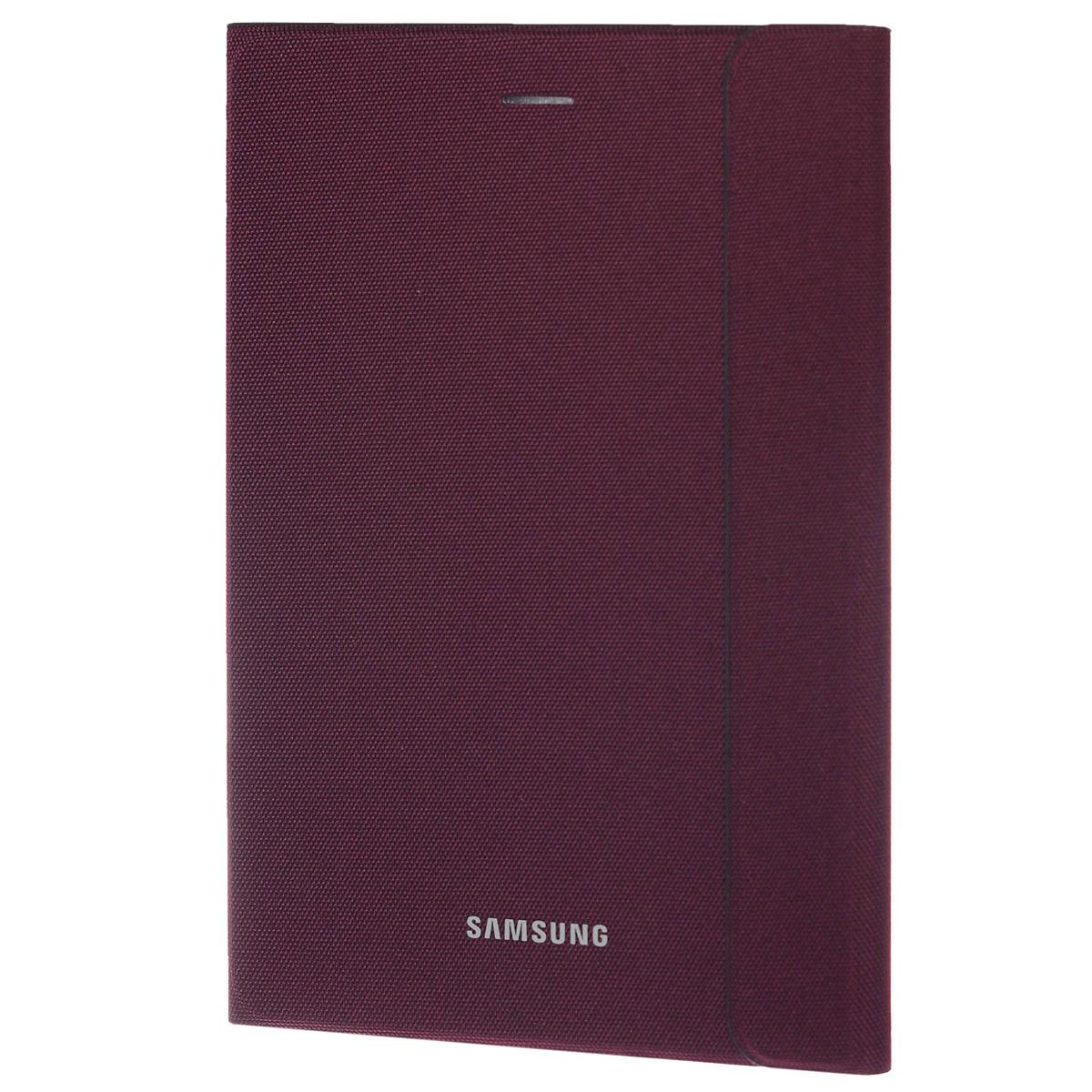 Samsung EF-BT350B BookCover чехол для Galaxy Tab A 8, VinousEF-BT350BQEGRUSamsung EF-BT350B BookCover -стильный и надежный аксессуар, позволяющий сохранить устройство в идеальном состоянии. Надежно удерживая технику, чехол защищает корпус и дисплей от появления царапин, налипания пыли. Имеется свободный доступ ко всем разъемам устройства.