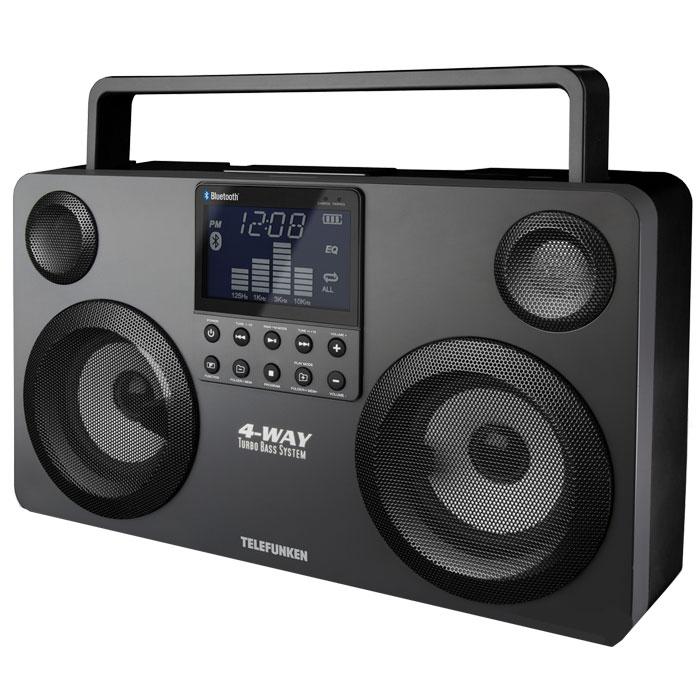 Telefunken TF-SRP3470B, Grey аудиомагнитола