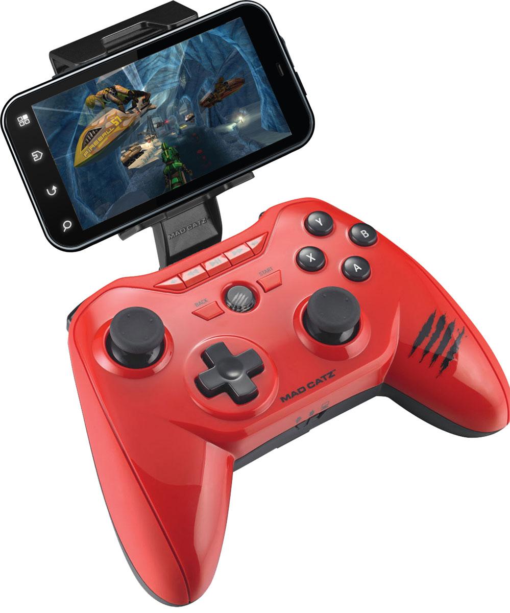 Mad Catz C.T.R.L.R, Gloss Red беспроводной геймпад (MCB322660013/04/1)MCB322660013/04/1Беспроводной геймпад Mad Catz C.T.R.L.R - универсальное боевое оружие, которое позволит взглянуть под другим углом на любимые мобильные игры. Это устройство подарит совершенно новые впечатления от приложений, управлять которыми раньше можно было только через интерфейс тач-скрин. Mad Catz C.T.R.L.R поддерживает технологии Bluetooth Classic и Bluetooth Smart(4.0), поэтому совместим и с актуальными, и с устаревшими мобильными устройствами. И, конечно же, гаджет оснащен полным набором элементов управления. С помощью утилиты GameSmart также можно с легкостью программировать кнопки и джойстики устройства.Подходит к устройствам под Android, Smart Devices, Fire TV, PC и M.O.J.O