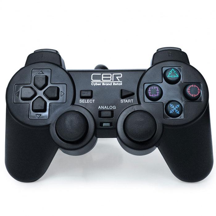 CBR CBG 950 геймпад для PC/PS2/PS3CBG 950CBG 950 - игровой джойстик с самой широкой областью применения. Он совместим не только с персональными компьютерами, но и с двумя моделями приставок - PS2 и PS3. Остальной набор функций классический: 2 аналоговых джойстика, 12 функциональных кнопок, два встроенных вибромотора, которые передают вибро-отклик на события, запрограммированные для конкретной игры, например, взрыв, ранение героя и т.п. CBG 950 соединяется с компьютером или приставкой при помощи кабеля длиной 1,5 м и совместим практически со всеми версиями Windows.