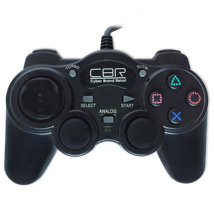 CBR CBG 945 геймпад для PC/PS2CBG 945От младших моделей игровых джойстиков CBG 945 отличается более совершенным пультом управления роллерного типа, что дает большую чувствительность и более точное позиционирование. Кроме этого,945-ая модель совместима с PS2. Остальной набор функций классический: 2 аналоговых джойстика, 12 функциональных кнопок, два встроенных вибромотора, которые передают вибро-отклик на события, запрограммированные для конкретной игры, например, взрыв, ранение героя и т.п. CBG 945 соединяется с компьютером или приставкой при помощи кабеля длиной 1,5 м и совместим практически со всеми версиями Windows.