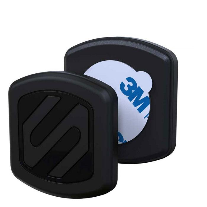 """Scosche MagicMount Surface (MAGFMI) автомобильный держатель для смартфона3403805Scosche MagicMount Surface — это инновационный универсальный автомобильный держатель, который очень надежно зафиксирует ваш смартфон за счет магнитной пластины. Инновационность данного метода также заключается в том, что держатель не имеет громоздкого """"стакана"""" и совместим с любыми чехлами.Закрепите одну из двух тонких пластин под крышкой аккумулятора вашего гаджета или между чехлом и задней панелью. Теперь вам достаточно просто прислонить телефон к MagicMount Surface и готово! Менять положение телефона также легко благодаря поворотному механизму держателя и отсутствию жесткого крепления на устройстве."""