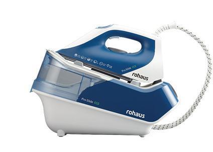 Rohaus RI1010B, White Blue гладильная системаRI1010BПарогенератор Rohaus выполнен с применением долговечной подошвы Teflon® Platinum Pro, что вкупе с давлением 5 бар и постоянной подачей пара 110 гр/ мин позволяет сократить время глажения в два раза.