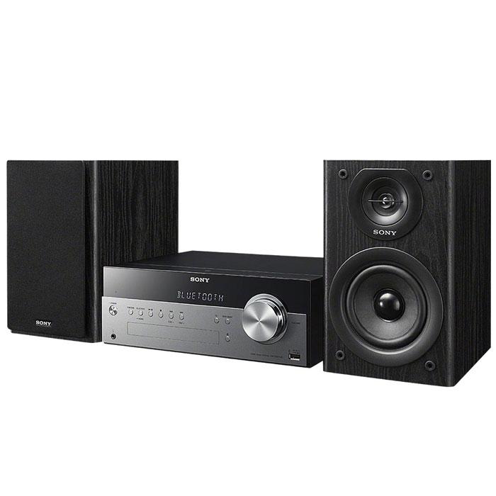 Sony CMT-SBT100 микросистемаCMTSBT100.RU1Забудьте о проводах – теперь музыку можно передавать в аудиосистему прямо с вашего смартфона. При помощи беспроводной технологии NFC Bluetooth ваши любимые песни будут звучать с мощностью 50 Вт. Аудиосистема также оснащена CD-проигрывателем, чтобы вы могли наслаждаться хитами из вашей коллекции CD-дисков.Все, что нужно — одно касание:Больше нет необходимости возиться с проводами. Просто прикоснитесь своим NFC-смартфоном или планшетным компьютером к звуковой системе, чтобы насладиться богатым звучанием любимых мелодий.Максимум звука:Почувствуйте, как звук в 50 Вт заполняет все пространство, услышьте чистоту высоких тонов благодаря встроенному цифровому усилителю S-Master R и мощность глубоких басов благодаря двухполосным динамикам с фазоинвертером.Технология беспроводного подключения Bluetooth:Проигрывайте музыку прямо с устройства, поддерживающего беспроводную связь Bluetooth.Вход USB:Для мгновенного начала воспроизведения подсоедините Ваш mp3-проигрыватель или ноутбук при помощи порта USB.Тюнер FM/AM:Подключитесь, чтобы не пропустить новый выпуск программы с любимым диджеем. Радиоприемник: AM, FM (с поддержкой RDS)Память тюнера: 30 станций