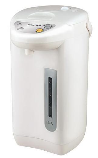 Maxwell MW-1754(W) термопотMW-1754(W)Термопоты сегодня – это не просто модные приборы для кухни. Это практичная техника, которая способна заменить любой современный электрический чайник. Они совмещают в себе функции чайника и термоса, за счет чего особенно популярны в офисных помещениях, где горячая вода необходима постоянноДля того чтобы пить горячий чай или кофе на протяжении всего дня, вам больше не потребуется пользоваться чайником, включая его ежечасно. Достаточно приобрести вместительный термопот торговой марки Maxwell! Эта техника удобна в использовании, как на работе, так и дома. Она характеризуется большим объемом резервуара для воды – до 6 литров, наличием функции поддержания температуры, удобной и безопасной системой налива кипятка.Включаются термопоты нажатием одной кнопки, при этом степень нагрева воды вы можете отрегулировать самостоятельно, выбрав один из нескольких предлагаемых температурных режимов. Приборы автоматически отключаются, когда вода нагревается до нужной температуры, что исключает необходимость постоянного пребывания рядом с техникой. Налить горячую воду в чашку очень просто, для чего в термопот встроен насос. Нажав на специальную кнопку, вода из резервуара потечет автоматически в подставленную чашку. Контролировать количество воды в термопоте вы можете при помощи специальной прозрачной шкалы с метками, которая всегда вам подскажет, когда необходимо долить воду в резервуарТермопоты исключают необходимость постоянного подогрева воды, когда вам захочется выпить чашечку чая. Функция сохранения высокой температуры кипяченной воды в течение суток позволяет вам в любое время наслаждаться горячими напитками, не тратя электроэнергию при включении устройстваТермопоты Maxwell практичны в эксплуатации, они удобны для использования дома, на природе или в офисе. Они отличаются высокой надежностью, что подтверждается большим сроком эксплуатации. И все эти достоинства дополняются эргономичным дизайном техники, благодаря чему любая модель впишется в инт