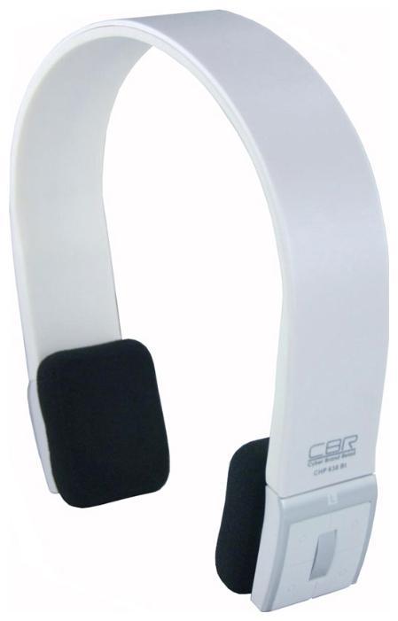 CBR CHP 636 Bt, White Bluetooth-гарнитураCHP 636Беспроводные наушники CBR CHP 636Bt – это сочетание стиля, современных технологий и функциональности.Беспроводная технология Bluetooth подаритнаслаждение любимой музыкой и общением без проводов,а вынесенные кнопки управления треками и громкостьюпозволят управлять мультимедийными функциями непосредственно через наушники.Те, кто любят всегда быть на связи, оценят наличие встроенного микрофона и системы переадресации звонков с мобильного телефона на наушники. Эта модель наушников позволит совместитьактивный образ жизни, прослушивание музыки и общение по телефону.Работа, развлечения, общение станут еще интереснее с СBR СНР 636Bt.