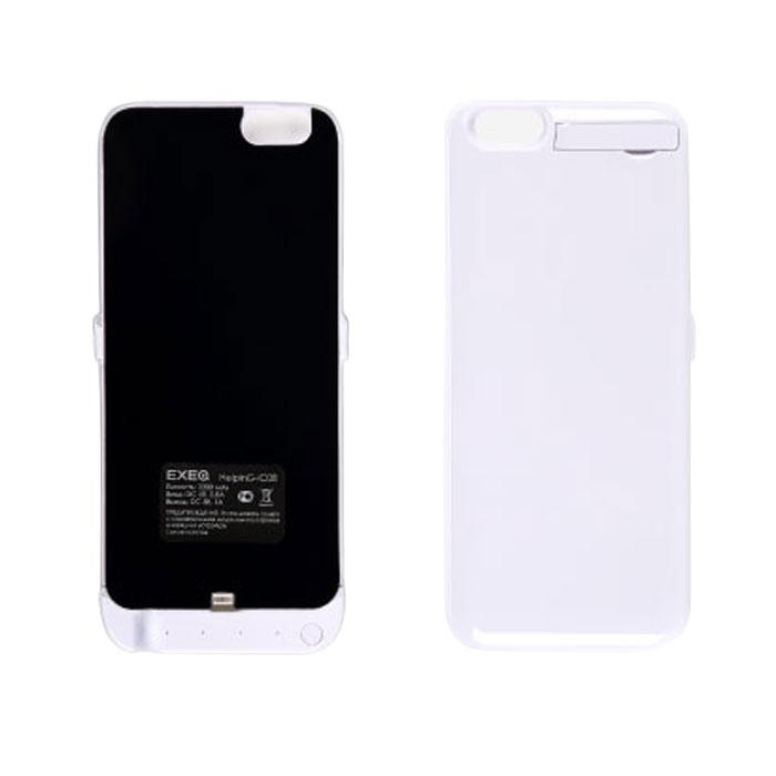 EXEQ HelpinG-iC08 чехол-аккумулятор для iPhone 6, White (3300 мАч, клип-кейс)HelpinG-iC08 WHЧехол-аккумулятор EXEQ HelpinG-iC08 - это отличное решение для тех, кто не может долго обходиться без смартфона. После долгого использования, как известно, современные телефоны быстро разряжаются. С выходом нового iPhone 6-го поколения, данный стильный портативный аккумулятор просто незаменим. С помощью портативного зарядного устройства вы сможете зарядить свой смартфон абсолютно везде: будь то на улице, в общественном транспорте или в любом другом месте, где рядом не оказалось розетки.Чехол-аккумулятор HelpinG-iC08 заряжает ваш телефон до 100 % и автоматически отключается. Заряда хватает на длительное время. Данное зарядное устройство обладает 4-мя индикаторами состояния заряда батареи. Аккумулятор очень легкий, Вам нет необходимости брать с собой зарядные устройства с проводом, которые путаются в сумке. Такой аккумулятор можно использовать несколько дней!Это устройство такое компактное, что поместится в вашем кармане, либо в сумке. Такой чехол-аккумулятор обеспечит надежную защиту вашему телефону от ударов и царапин.